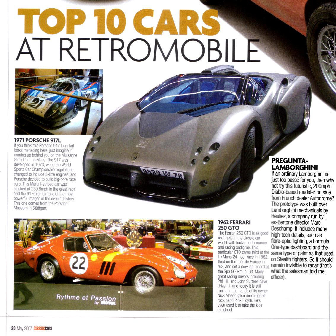 Classic Cars ranks the