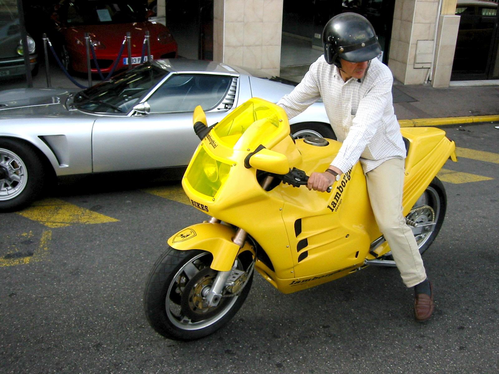 Lamborghini Motorcycle Vintage Classic Motorbike At